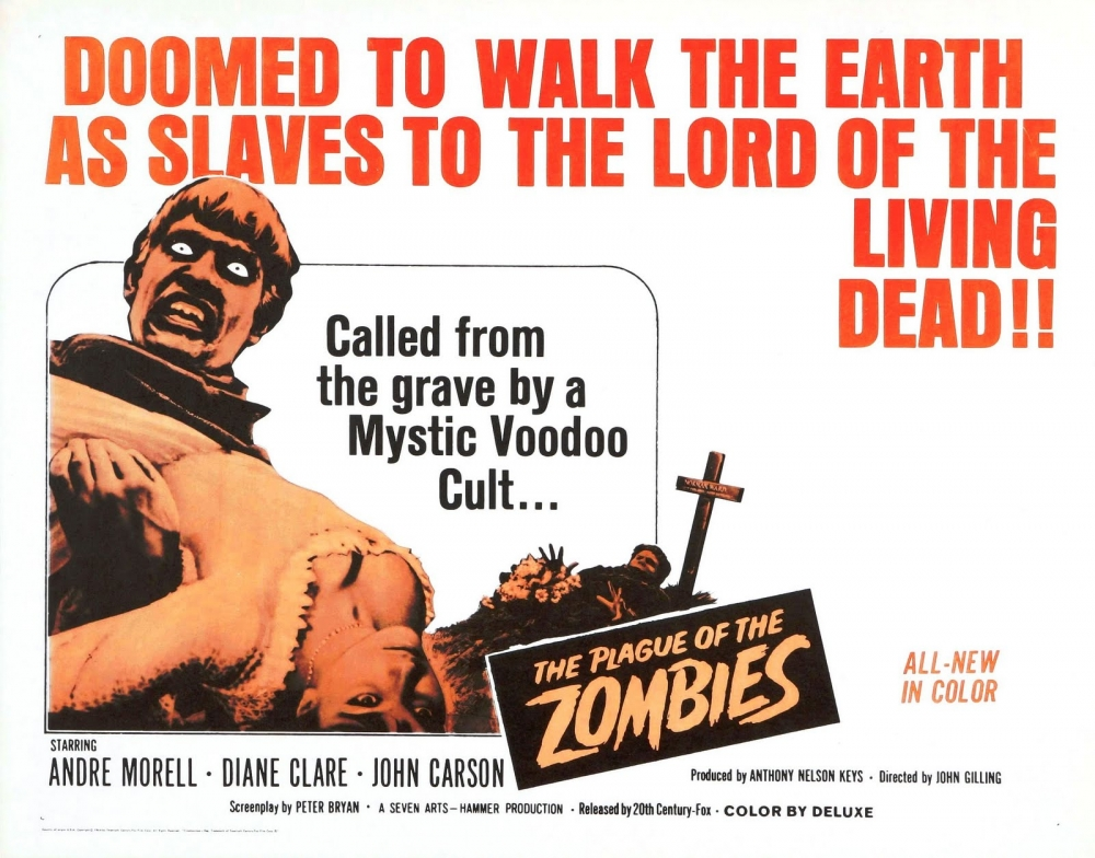 Plague of the Zombie's (1966) Movie Poster
