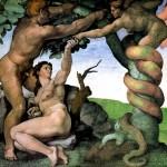 The Temptation of AdamandEve by Michelangelo