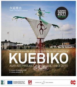 Flier for KUEBIKO, a Finnish Art Project from 2011