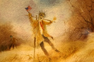 From the Patriot Scarecrow Series by Win Jones