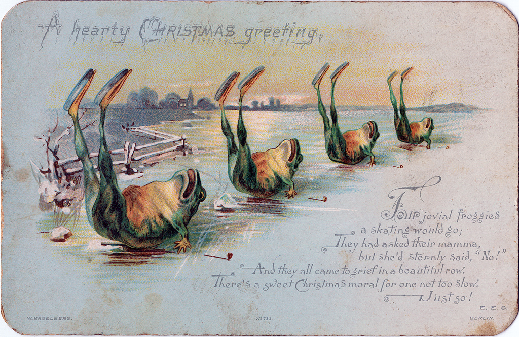 Murderous Frogs And Dead Birds Two Odd Victorian Christmas Cards