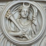 Detail of Selene from a Roman sarcophagus