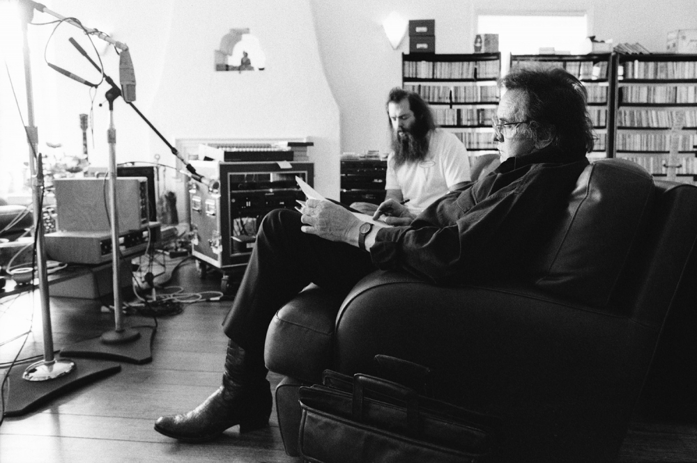RIck Rubin with Johnny Cash