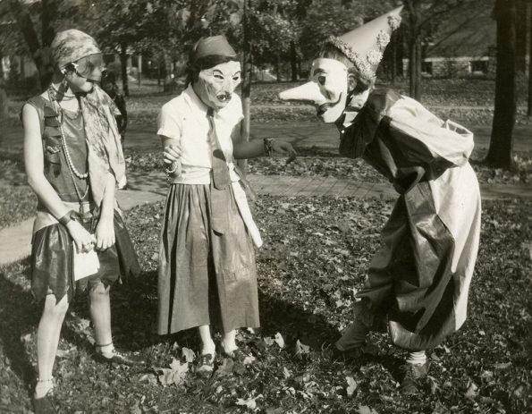 Homemade Halloween costumes, circa 1929