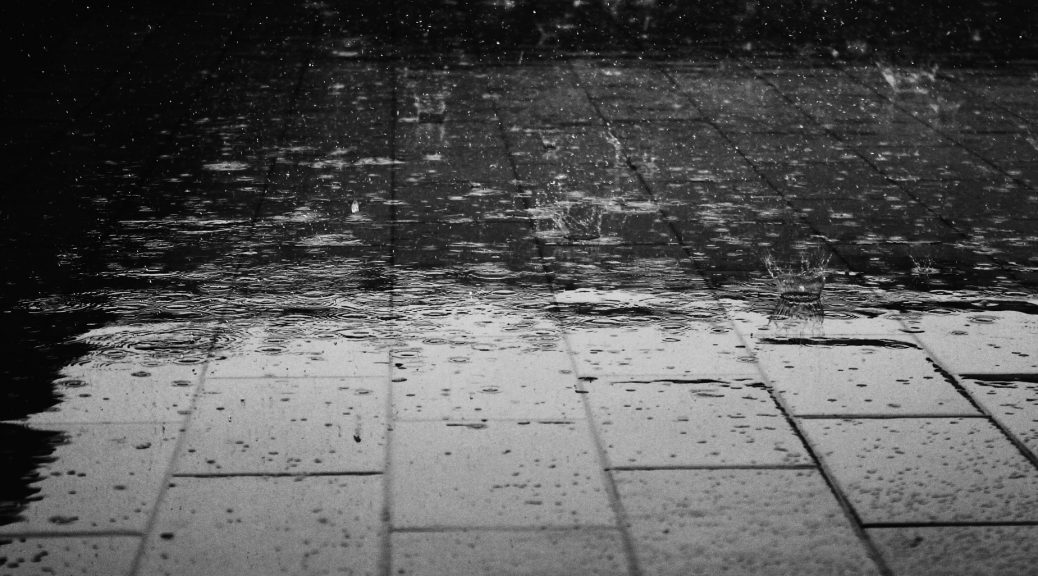 Rain on the pavement