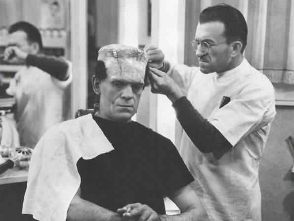 Boris Karloff and Jack Pierce