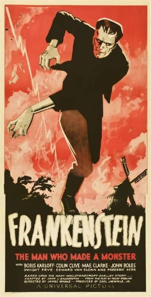 Poster for the release of Frankenstein (1931)
