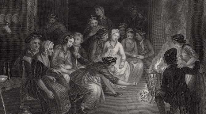 Edward Scriven's engraving of John Masey Wright's illustration to Robert Burns' Halloween