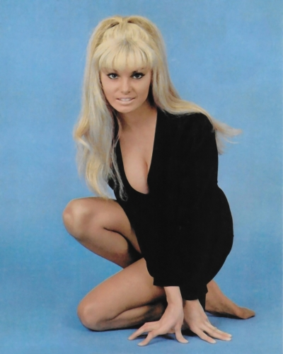 Victoria Vetri, a playboy playmate who used the name Angela Dorian, appeared in When Dinosaurs Ruled the Earth (1970)