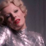 Delphine Seyrig as Countess Elizabeth Bathory in glorious silver lamé