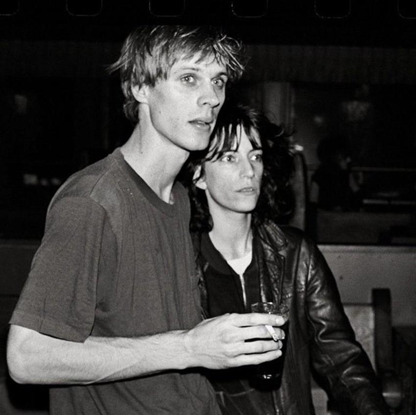Tom Verlaine with Patti Smith, 1975 by Anton Perich