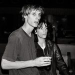 Tom Verlaine with Patti Smith, 1975 by Anton Perich