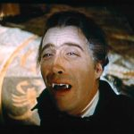 Christopher Lee's Dracula done in by sunlight at the end of HOROR OF DRACULA (1958)