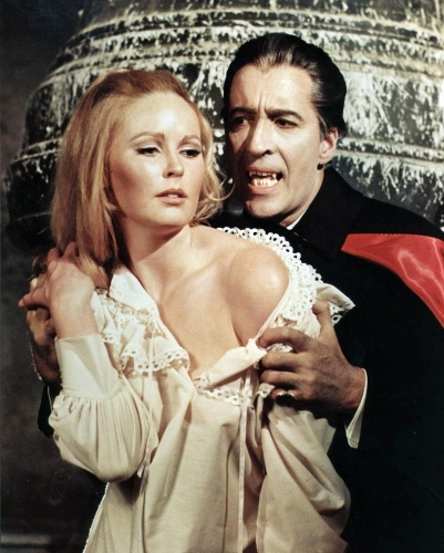 Veronica Carlson with Christopher Lee