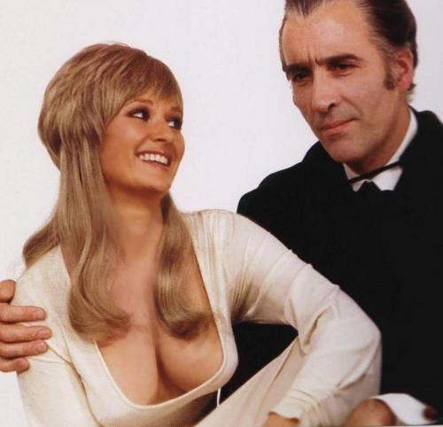 Stephanie Beachum with Christoper Lee