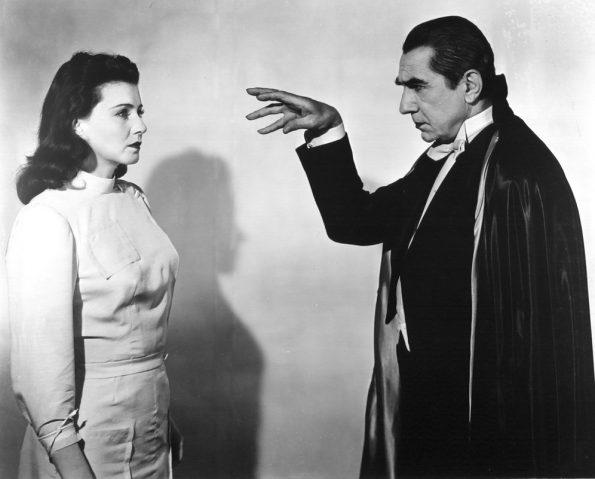Lenora Aubert and Bela Lugosi in ABBOTT AND COSTELLO MEET FRANKENSTEIN (1948)